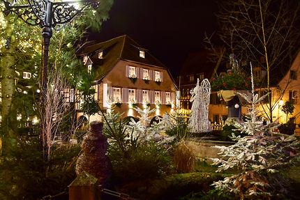 Place de l'hôtel de ville à Barr, Alsace