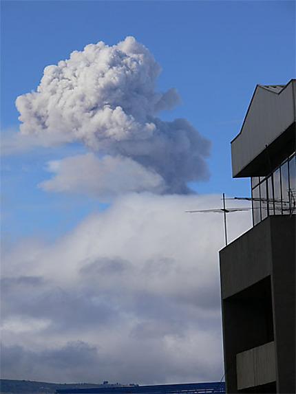 Volcan Tungurahua en éruption