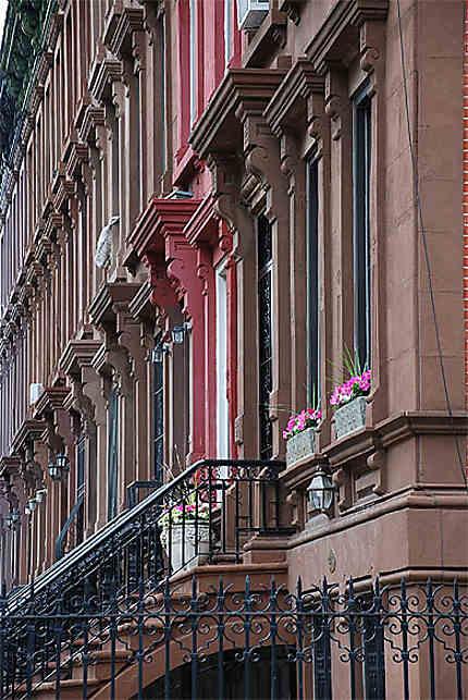 Façades d'immeubles à Harlem