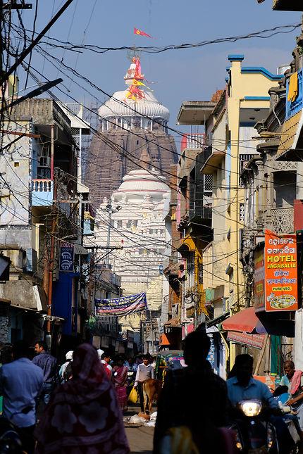 Quartier de Puri en Inde