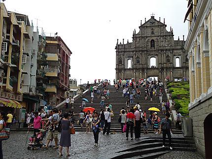 Macao - La façade de l'église de la Mère-de-Dieu