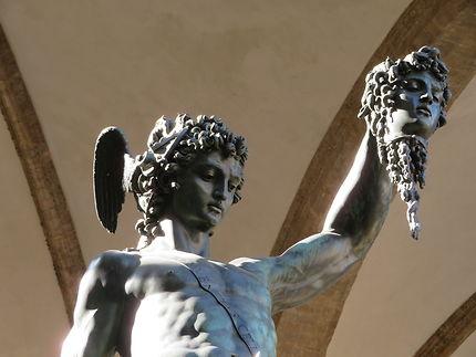 Persée tenant la tête de Méduse (détail)