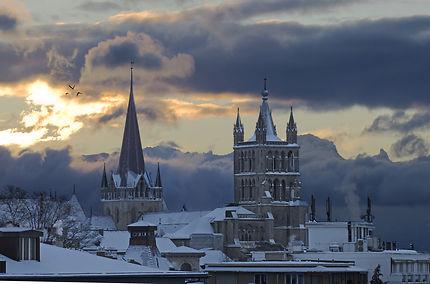 Cathédrale de Lausanne en hiver