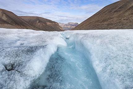 Randonnée sur le glacier en amont de Longyearbyen