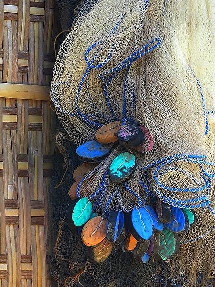 Filet de pêche sur l'île