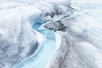 Rivière glaciaire, Longyearbyen