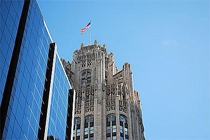 Drapeau américain à Chicago