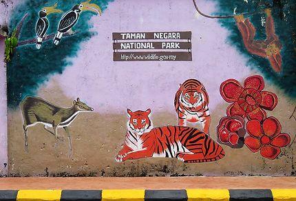 Peinture murale à Jerantut
