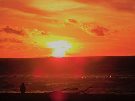 Coucher de soleil plage de Layoune