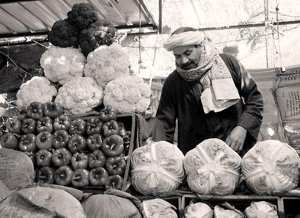 Vendeur de légumes frais à Hurghada