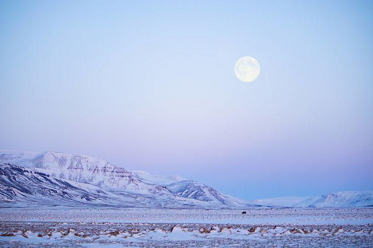 Sous la lune, péninsule de Snæfellsnes, Islande