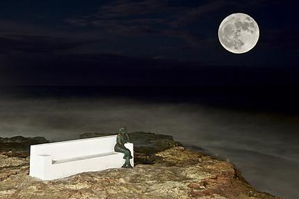 Super lune sur la Bella Lola