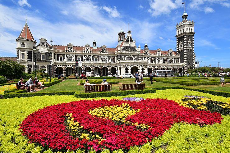 La gare de Dunedin, Nouvelle-Zélande