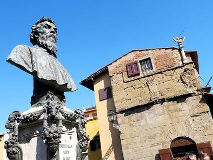 Buste de Benvenuto Cellini, Ponte Vecchio