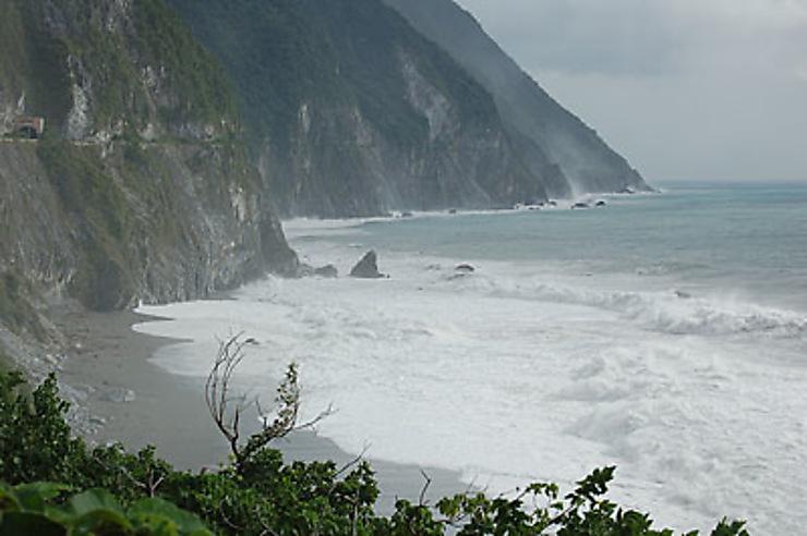 Un typhon sur Taiwan