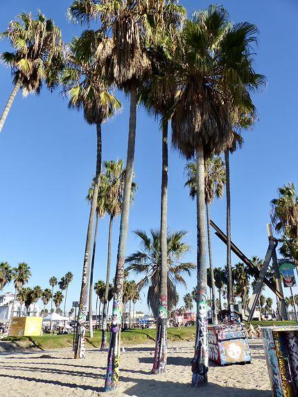 Les allées proches de la mer à Venice Beach