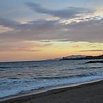 Coucher de soleil à Aguilas en Espagne