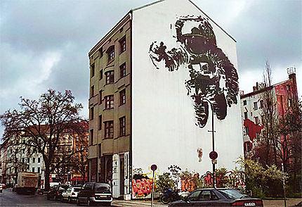 Fresque dans le quartier de Kreuzberg