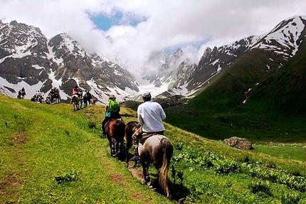 Randonnée à cheval dans le Caucase