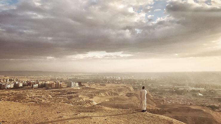 Appel depuis Mokattam Mountain, Le Caire, Egypte