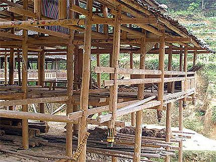 Maison Miao en construction
