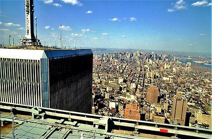 """MANHATTAN FROM WORLD TRADE CENTER 1989"""