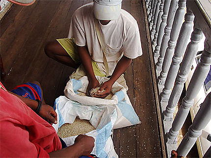 Vendeur de riz à Ambohimahasoa