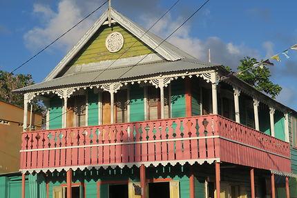 Case créole à Sainte-Lucie