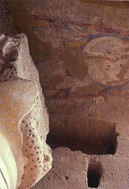 Fresque à Bamyan au-dessus du Bouddha