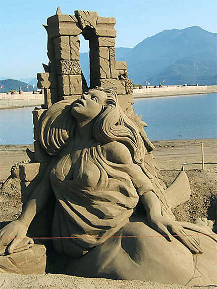 Sculpture en sable