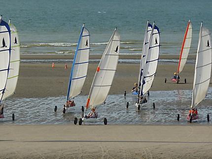 Char à voile à Dunkerque