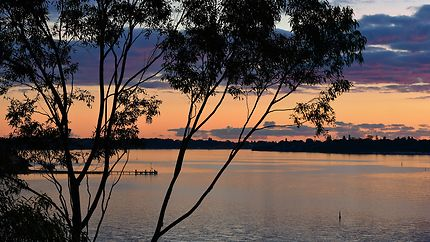 Swan river sunset à Perth en Australie
