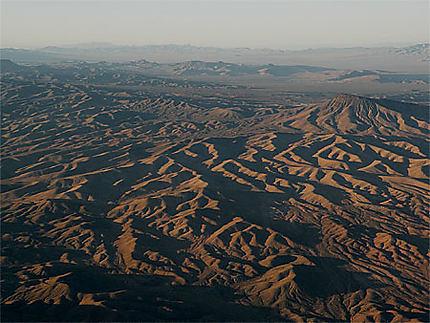 Vue aérienne du désert de Mojave