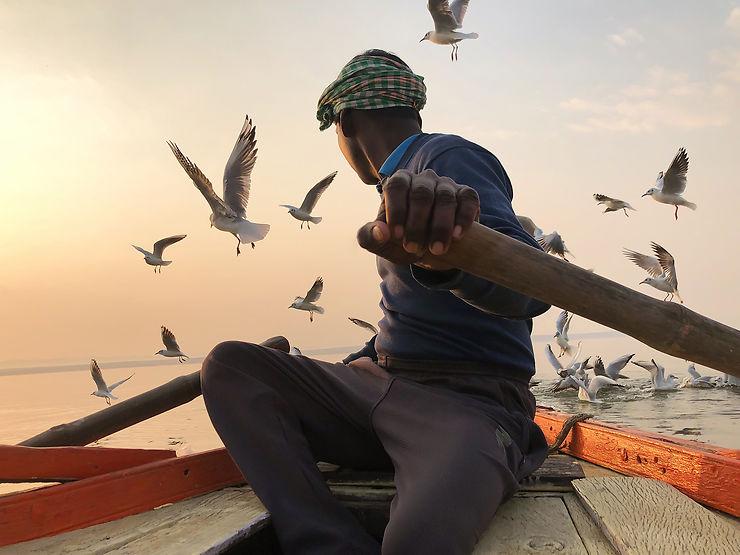 Libéré du passé, Varanasi, Inde
