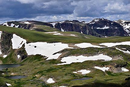 Lacs glaciaires le long de la Beartooth HWY