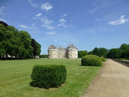 Chateau vu du parc