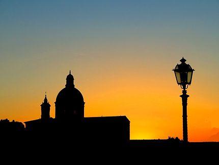 Soleil couchant sur Florence