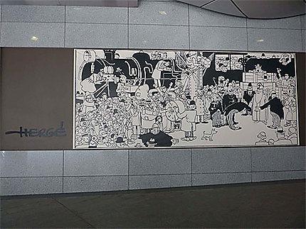 Fresque d'Hergé