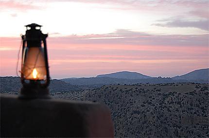 Coucher de soleil sur la réserve de Dana