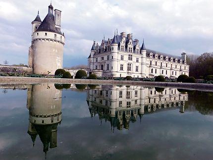 Château et jardins de Chenonceau, effet miroir