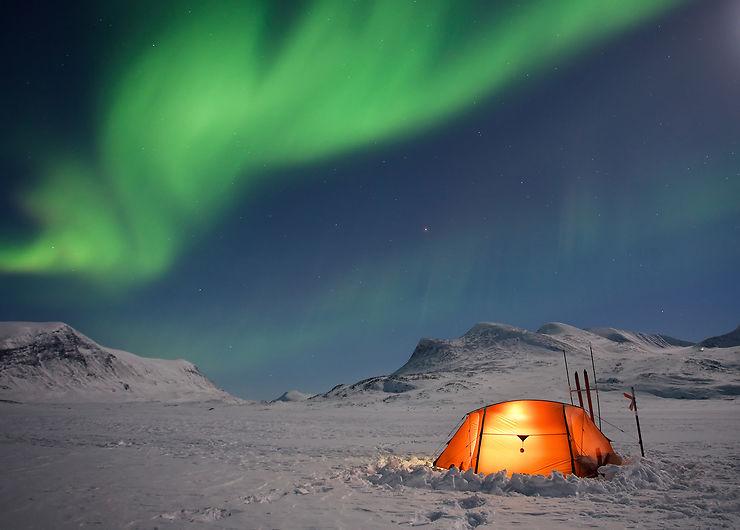 Laponie suédoise, en blanc et vert boréal