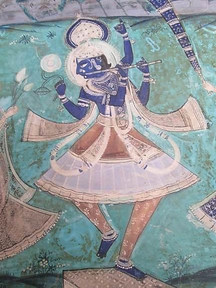 Fresque représentant khrishna