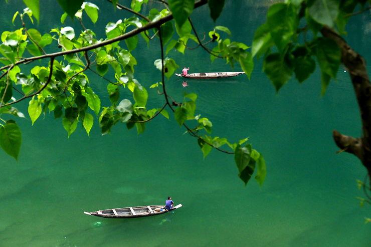 Pêcheurs, Etat du Meghalaya, Inde, par marcliegeois