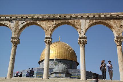 Jérusalem - vue insolite du Dôme du rocher