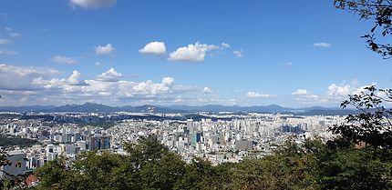 Vue sur Séoul depuis la N Seoul Tower.
