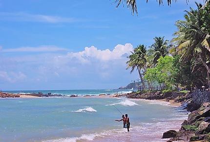 Pêcheur de la plage de Mirissa