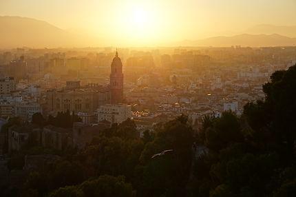 Coucher de soleil à Málaga