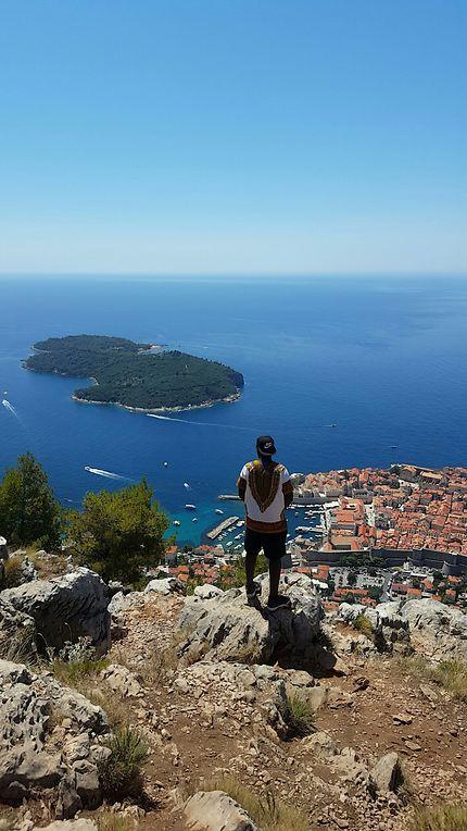 Vue sur la vieille ville de Dubrovnik