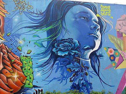 La femme bleue art street