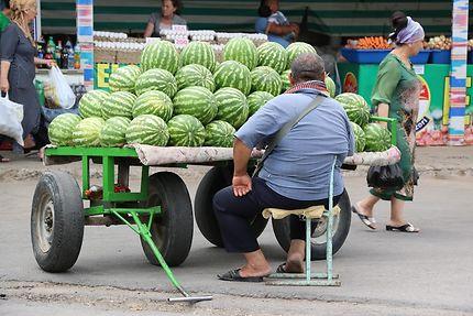Vendeur de pastèques en Ouzbékistan